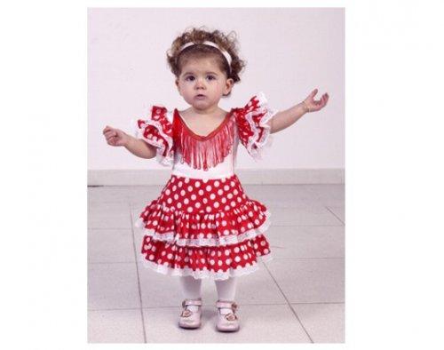 Disfraz de flamenca para niña rojo 2-4 años