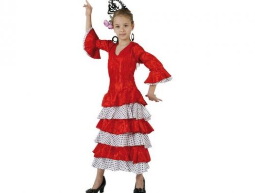 Disfraz de flamenca rojo, 3-4