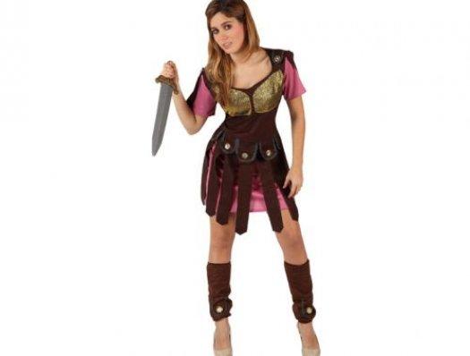 Disfraz de gladiadora romana adulto xxl