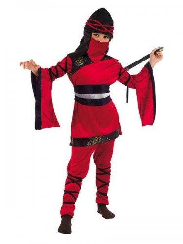 Disfraz de guerrera oriental ninja (bs) (3) 5 a 7 años