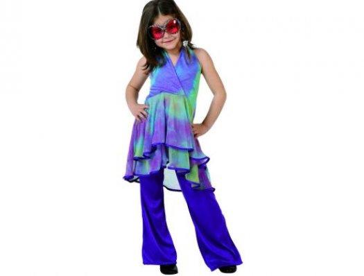 Disfraz de hippie niÑa talla 2