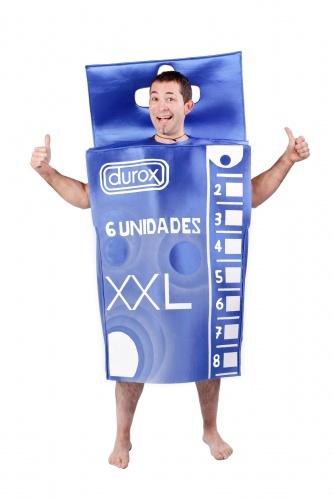 Disfraz de caja de preservativos