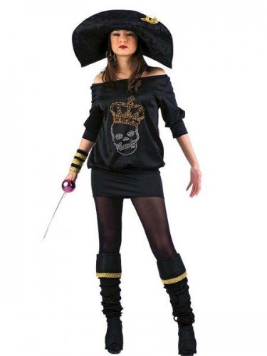 Disfraz de lolitas pirata negra talla S