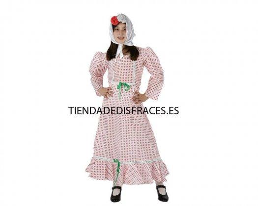 Disfraz de madrileña, (1 pieza) Talla 4 (10 – 12 años)
