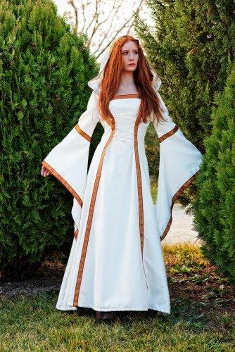 Disfraz de medieval beige elenea Talla XS