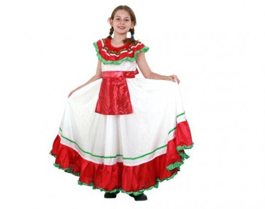 Disfraz de mejicana 4-6 años