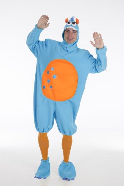 Disfraz de monstruito azul adulto