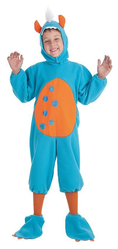Disfraz de monstruito azul talla 0 (1-3 años)