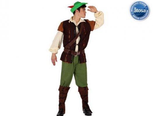Disfraz de chico de los bosques Talla 1 (XS-S)