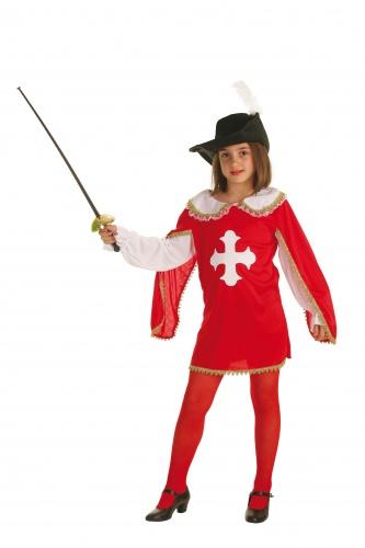 Disfraz de mosquetera talla S (4-6 años)