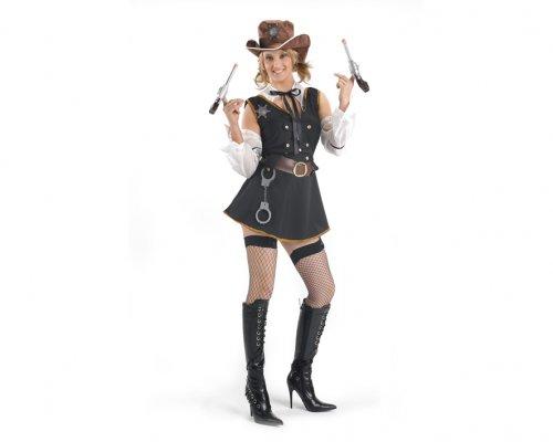 Disfraz de mujer Sheriff para chica