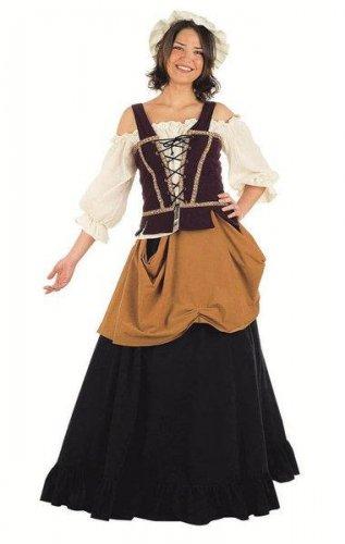 Disfraz de mujer de mercado medieval Talla L