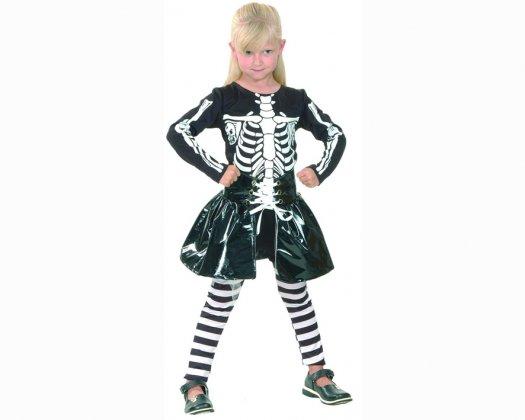 disfraz de nia skeleton aos