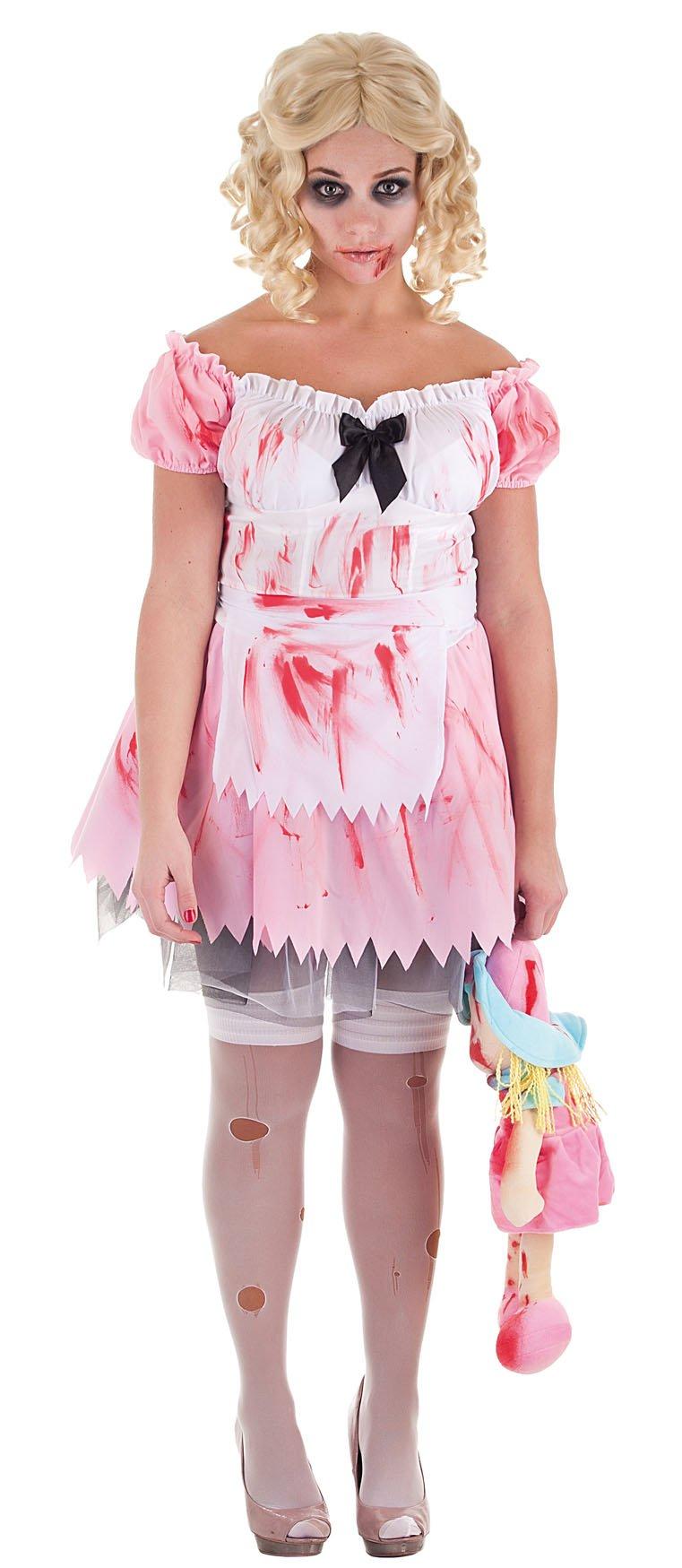 disfraz de nia zombie adulto
