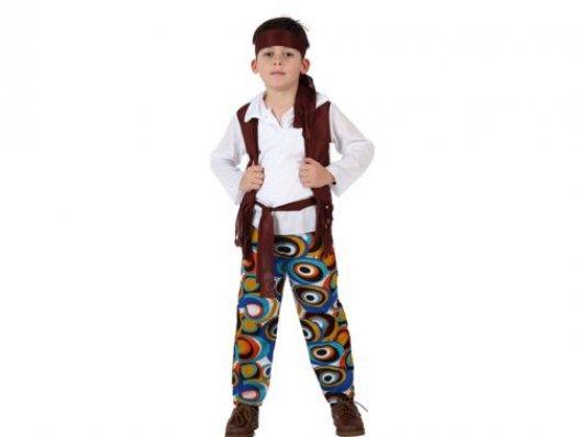 Disfraz de niño hippie Talla 4 (10 – 12 años)