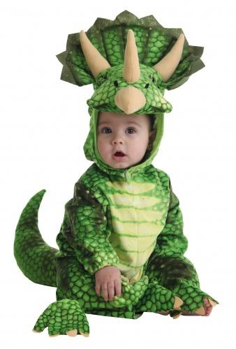 Disfraz de pentasaurio Verde (1 año)