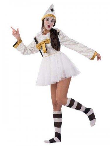 Disfraz de pierrot clasic chica