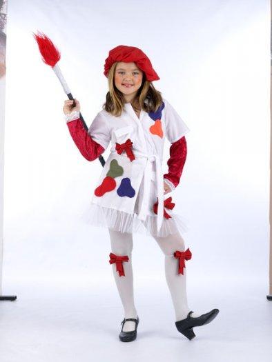 Disfraz de pintora roja (2) 3 a 5 años