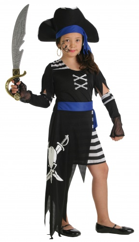 Disfraz de pirata 7 mares ni a talla m 7 10 a os - Maquillaje pirata nina ...