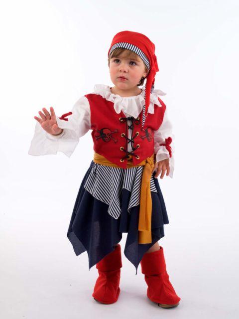 Disfraz de pirata bucanera infantil Deluxe