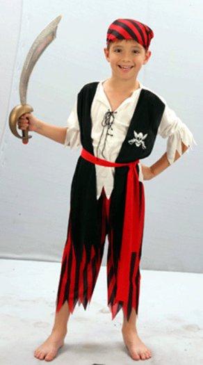 Disfraz de pirata caribeño 2-4 años