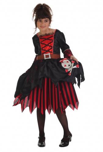 Disfraz de pirata corazones infantil talla L (11-14 años)
