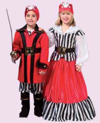 Disfraz de pirata infantil para niña, talla 1-3 años