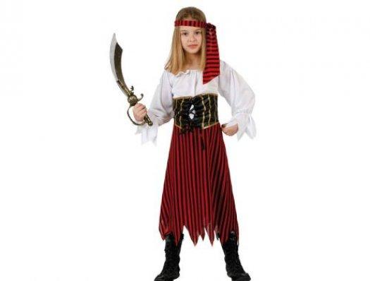 disfraz de pirata rayas nia talla u aos