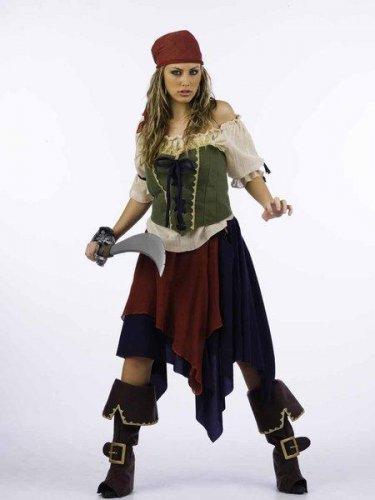 Disfraz de pirata saqueadora Talla S