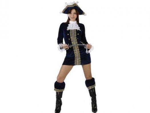 Disfraz de pirata sexy azul adulto Talla 2 (M-L)