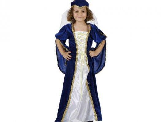 Disfraz de princesa azul, 7-9 años