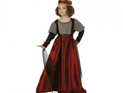 Disfraz de princesa medieval, Talla 1 (3 – 4 años)