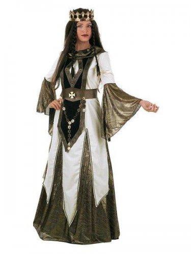 Disfraz de reina de las cruzadas medieval Talla XS