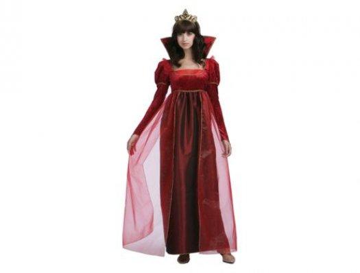 Disfraz de reina rojo, adulto