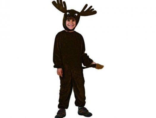 Disfraz de reno negro, talla 1 (3-4 años)