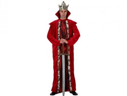 Disfraz de rey de la corte medieval hombre