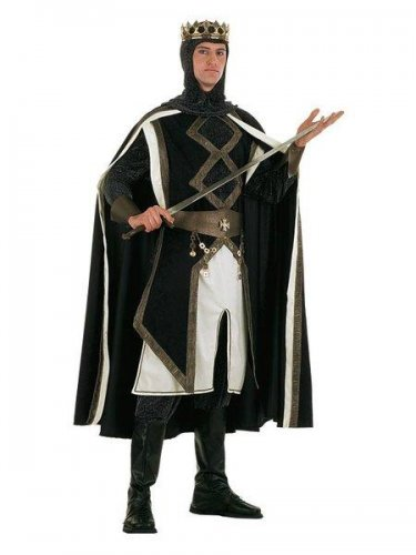 Disfraz de rey de las cruzadas medieval Talla M