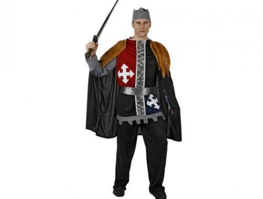 Disfraz de rey del medievo hombre