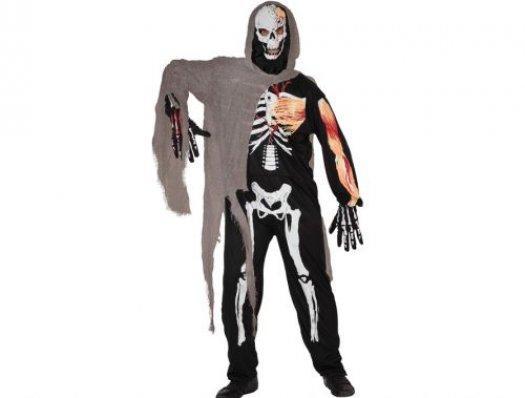 Disfraz de esqueleto Talla 2 (M-L)