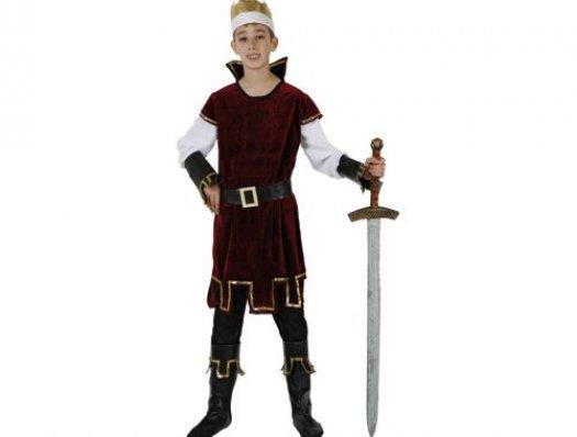 Disfraz de rey medieval, talla 1 (3-4 años)