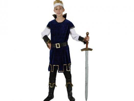 Disfraz de rey medieval, azul, 3-4 años