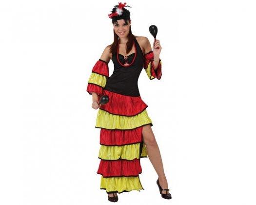 Disfraz de rumbera caribeña Talla 1 (xs-s)