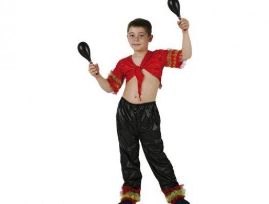 Disfraz de salsa niño rojo, 7-9 años