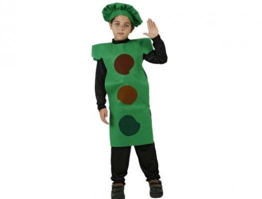 Disfraz de semaforo niÑo 7-9 aÑos