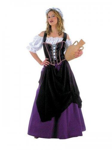Disfraz de tabernera medieval Talla L