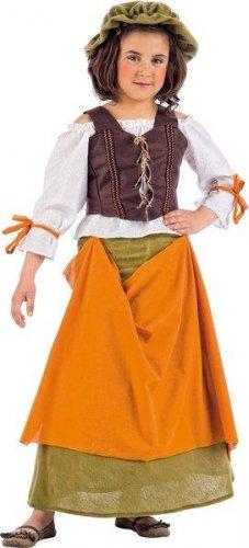 Disfraz de tabernera medieval agnes (ec) (3) 5 a 7 años