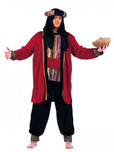 Disfraz de tuareg rojo talla XL
