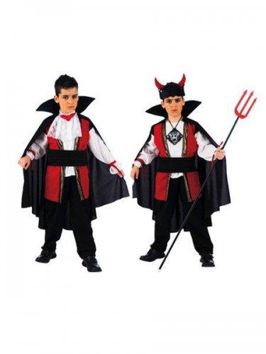Disfraz de vampiro-diablo 2x1