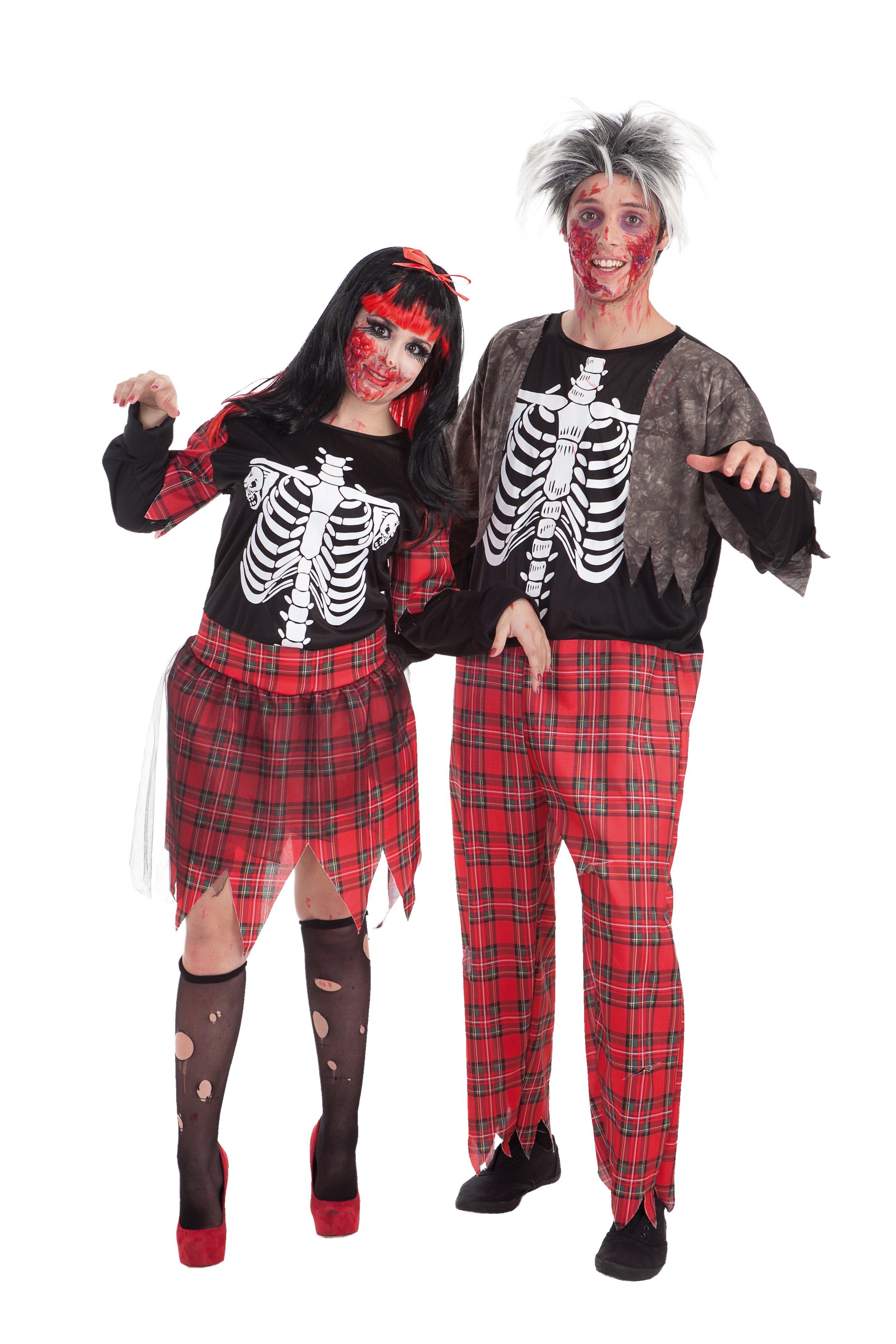 Disfraz de zombie colegial adulto