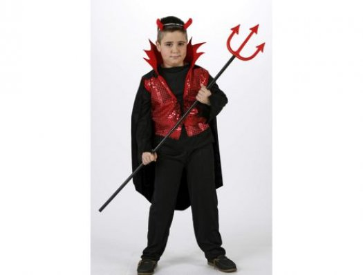 Disfraz demonio rojo niÑos 7-9 aÑos